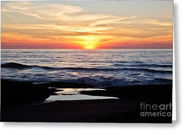 Sunset In Yachats Greeting Card by Scott Pellegrin