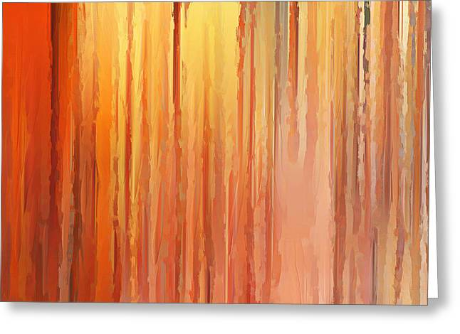 Beauty In Nature Paintings Greeting Cards - Sunset Infinity Greeting Card by Lourry Legarde