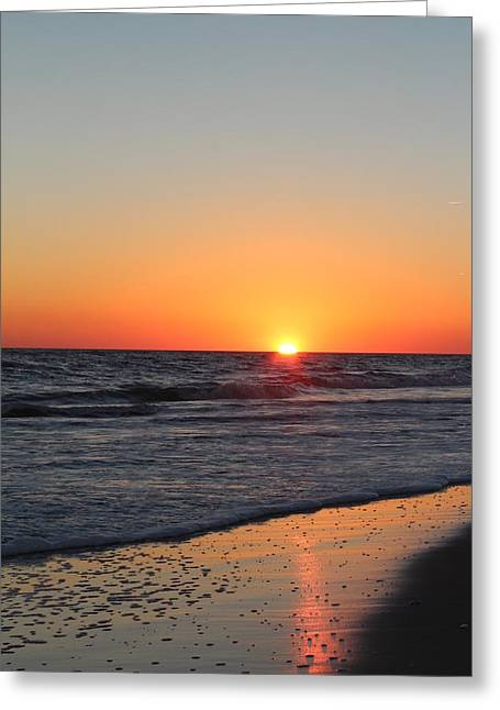Beach Sunsets Pyrography Greeting Cards - Sunset  Greeting Card by Joanne Askew