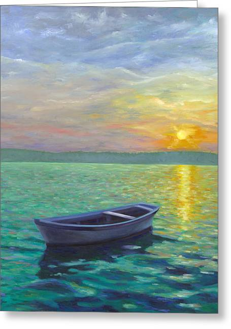 Sea Scape Greeting Cards - Sunset Greeting Card by Joe Maracic