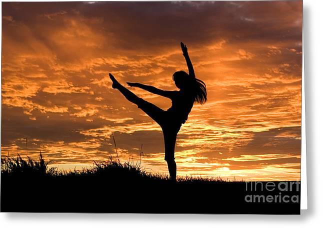 Jubilation Greeting Cards - Sunset Jubilation Greeting Card by Cindy Singleton