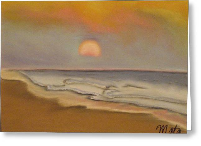 Beach Sunsets Pastels Greeting Cards - Sunset Greeting Card by Kathy Mota