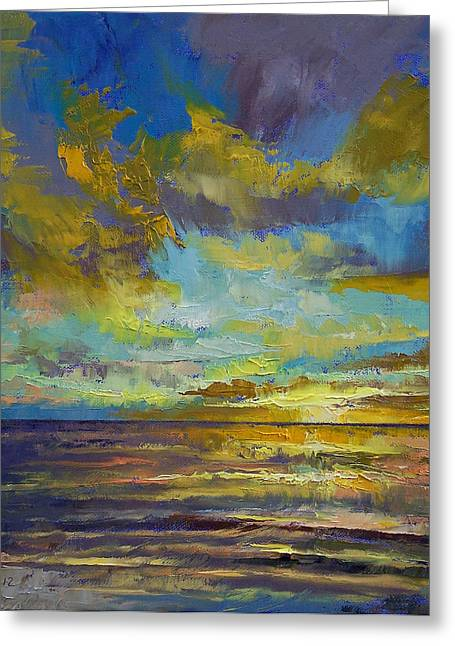 Sunset Abstract Greeting Cards - Sunset Key Largo Greeting Card by Michael Creese