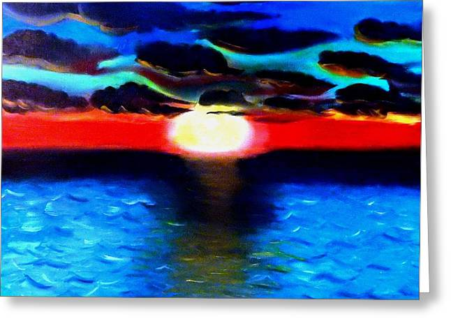Famouse Greeting Cards - Sunset Greeting Card by Khanda Lewis