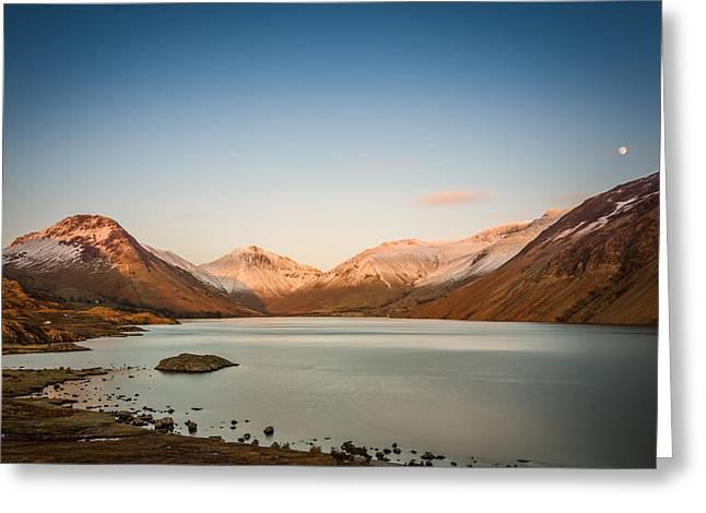 Hills Greeting Cards - Sunset Lake. Greeting Card by Daniel Kay