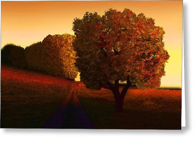Sunset Lane Greeting Card by John Townes