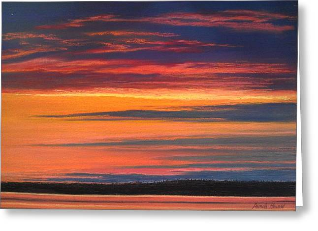 Layers Pastels Greeting Cards - Sunset Layers West Greeting Card by Pamela Heward