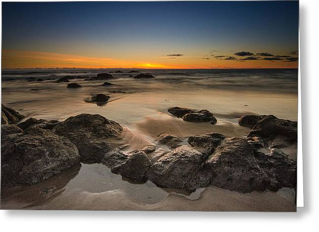Sunset - Lincoln Beach Greeting Card by Tin Lung Chao