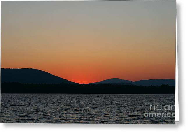 Neal Eslinger Photography Greeting Cards - Sunset Lines of Lake Umbagog  Greeting Card by Neal  Eslinger