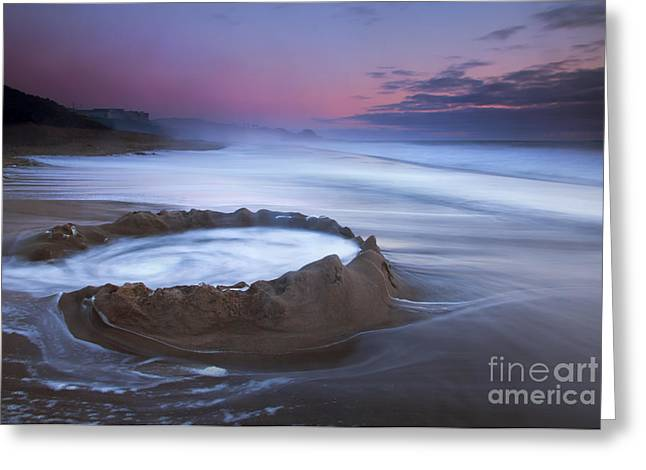 Sand Castles Greeting Cards - Sunset Maelstrom Greeting Card by Mike  Dawson