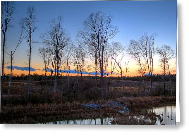 Hdr Landscape Greeting Cards - Sunset Greeting Card by Maurice Smith