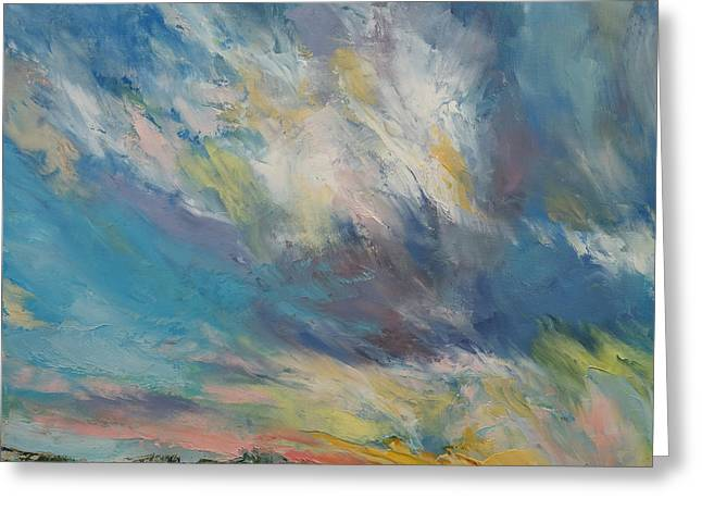 Clouds At Sunset Greeting Card by Michael Creese