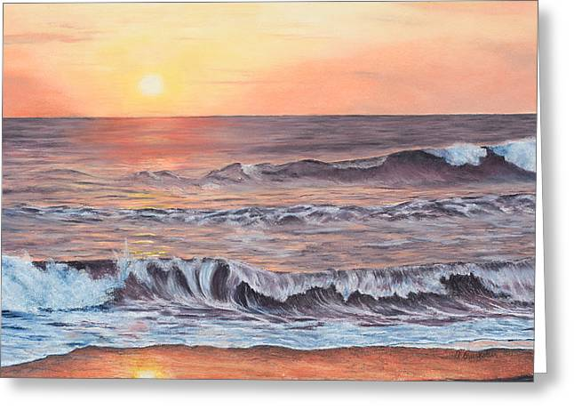 Costa Pastels Greeting Cards - Sunset Near Jaco Greeting Card by Angela Bruskotter