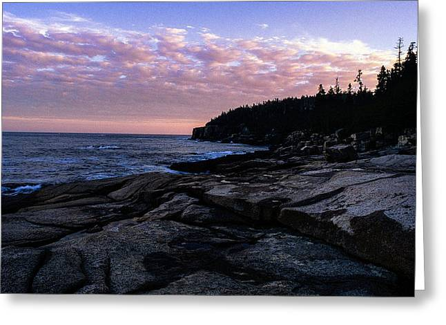 Maine Landscape Greeting Cards - Sunset near Otter Cliffs Greeting Card by Jeremy Herman