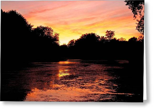 Sunset Near Rosemere - Qc Greeting Card by Juergen Weiss
