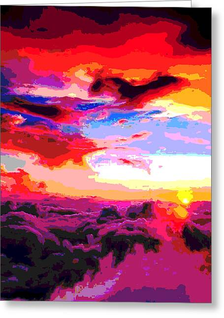 California Art Greeting Cards - Sunset Of Purple And Orange Greeting Card by James Harper