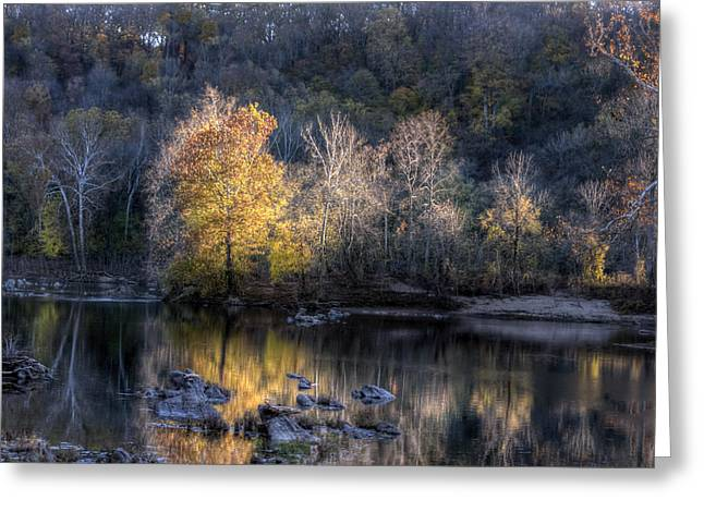 Holiday Card Greeting Cards - Sunset on Billy Goat Trail outside DC Greeting Card by Francis Sullivan