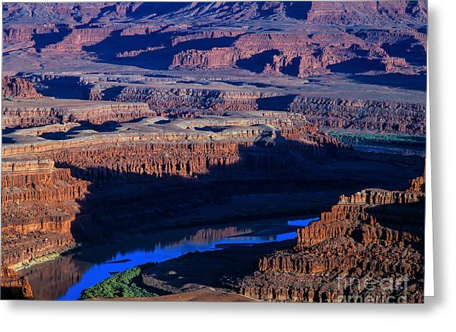 The Plateaus Greeting Cards - Sunset on Colorado River Greeting Card by Tracy Knauer