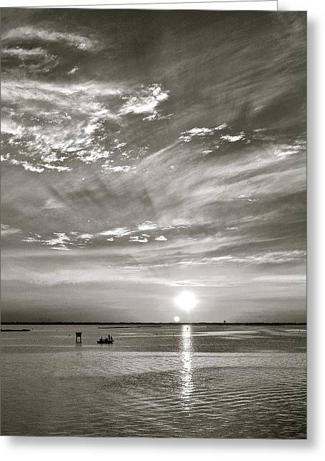Sunset Greeting Cards Greeting Cards - Sunset on Corpus Christi Bay Greeting Card by Kristina Deane