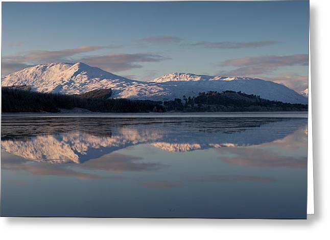Rannoch Moor Greeting Cards - Sunset on Crianlarich Greeting Card by Pat Speirs