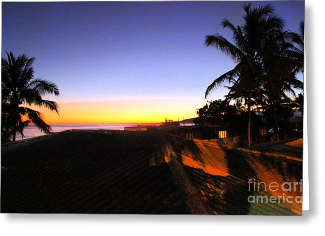 Isla Greeting Cards - Sunset On Isla Isabela In The Galapagos Greeting Card by Al Bourassa