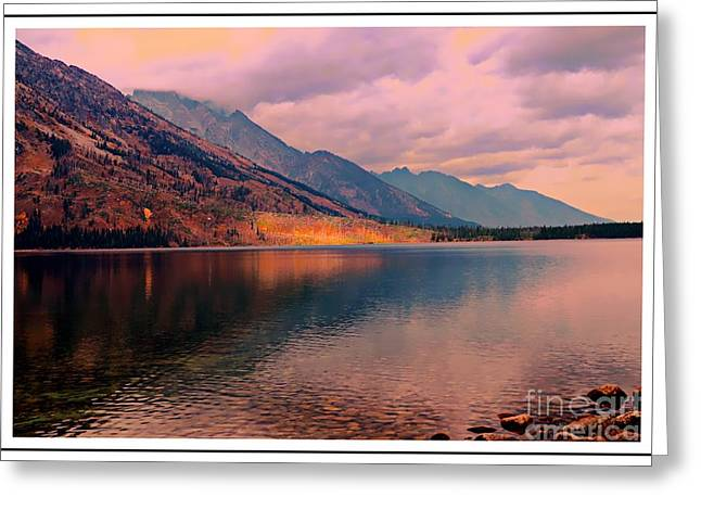 Sunset On Jenny Lake Greeting Card by Kathleen Struckle