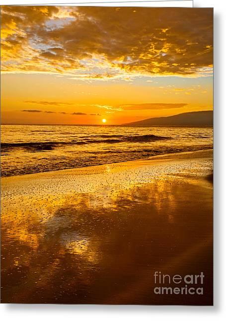 Lahaina Greeting Cards - Sunset on Lahaina Greeting Card by Jamie Pham
