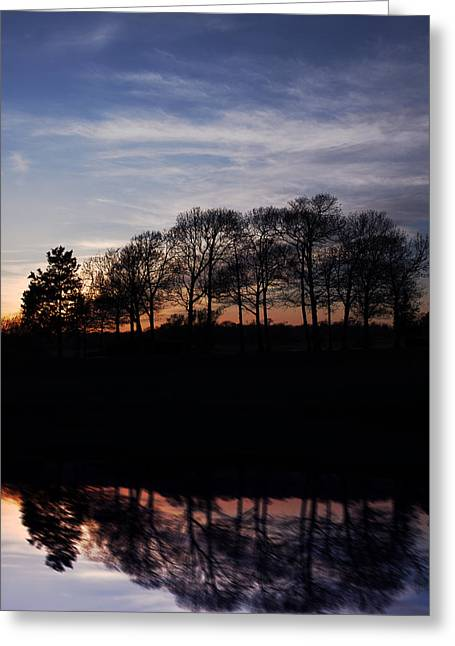 Long Island Greeting Cards - Sunset On Lake Greeting Card by Alida Thorpe