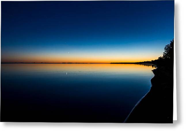 Mystical Landscape Greeting Cards - Sunset On Lake Milacs Greeting Card by Paul Freidlund