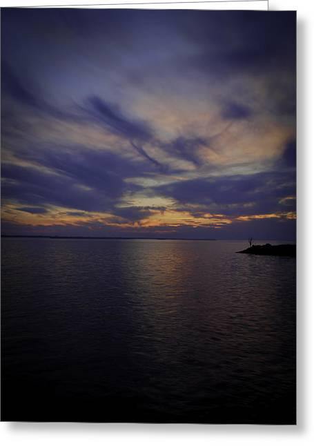 Thomas Young Photography Greeting Cards - Sunset on Lake Poygan 1 Greeting Card by Thomas Young