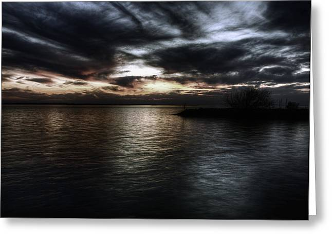 Thomas Young Photography Greeting Cards - Sunset on Lake Poygan 3 Greeting Card by Thomas Young