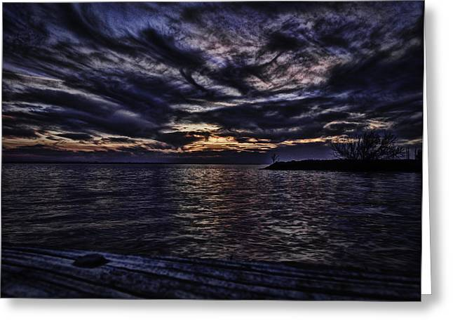 Thomas Young Photography Greeting Cards - Sunset on Lake Poygan 4 Greeting Card by Thomas Young