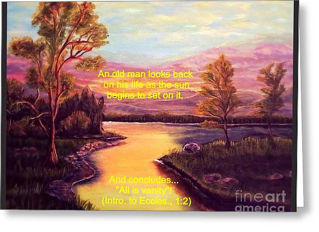 Reflections Of Sun In Water Digital Greeting Cards - Sunset on Ones Life Greeting Card by Kimberlee  Baxter