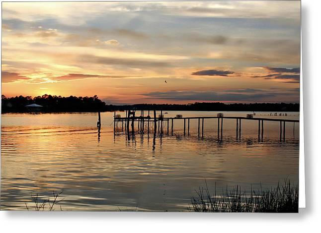 Sunset On Oyster Bay Greeting Card by Lynn Jordan