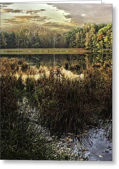 Gaston County Photographs Greeting Cards - Sunset on Shorts Lake 2 Greeting Card by Kevin Senter