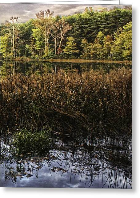 Gaston County Photographs Greeting Cards - Sunset on Shorts Lake 3 Greeting Card by Kevin Senter
