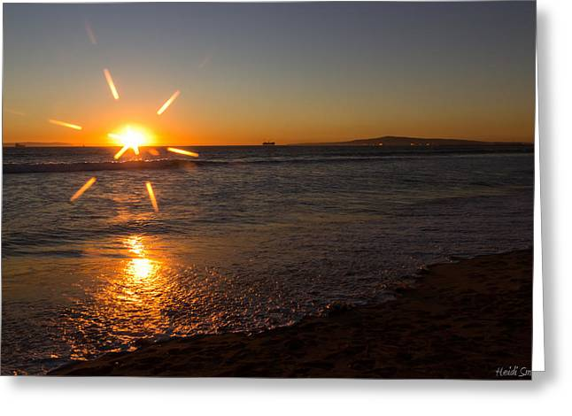Serene Setting Greeting Cards - Sunset On Sunset Beach Greeting Card by Heidi Smith