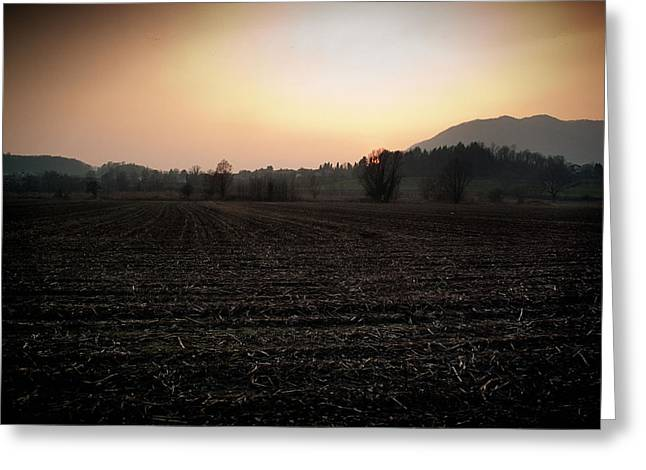 Autographed Photographs Greeting Cards - Sunset on the Adda Greeting Card by Matteo Moncalvo