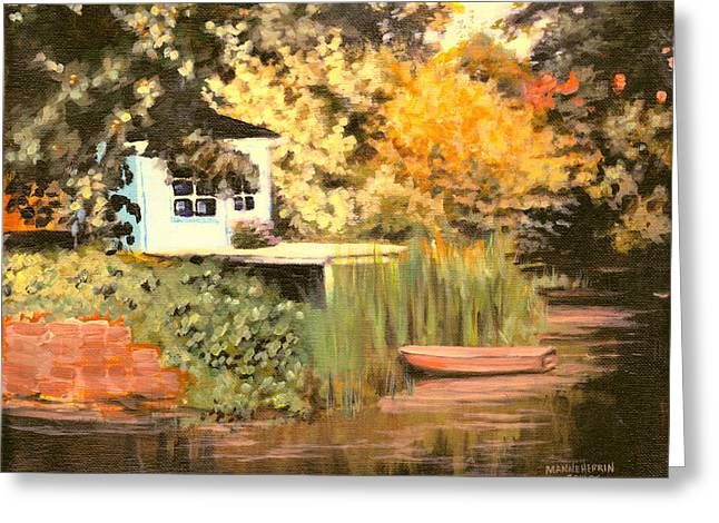 Quite Greeting Cards - Sunset on the Bayou Greeting Card by Melissa Herrin