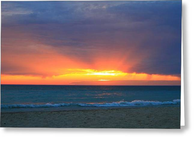 Myrtle Beach Ocean Photography Greeting Cards - Sunset On The Beach Greeting Card by Dan Sproul