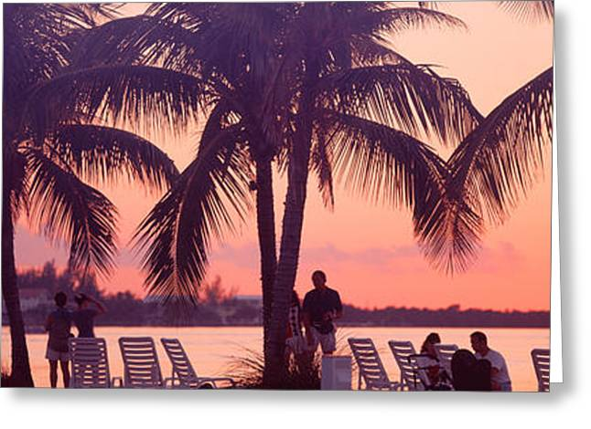Sunset On The Beach, Miami Beach Greeting Card by Panoramic Images