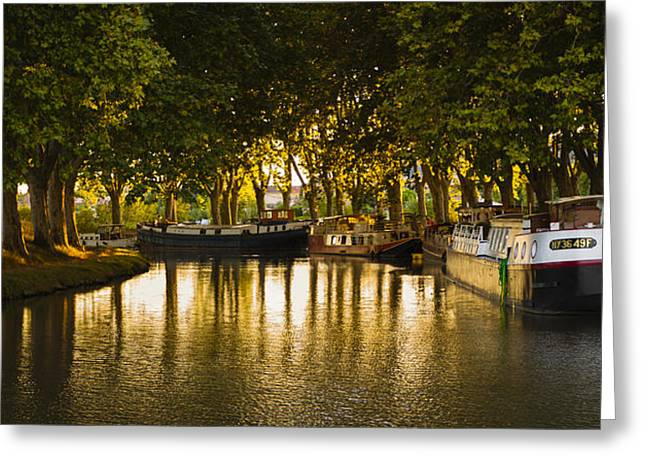 Midi Greeting Cards - Sunset on the Canal Greeting Card by Matthew Bruce