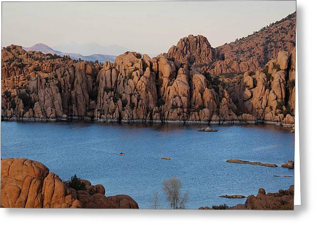 Watson Lake Greeting Cards - Sunset on the Dells Greeting Card by Aaron Burrows