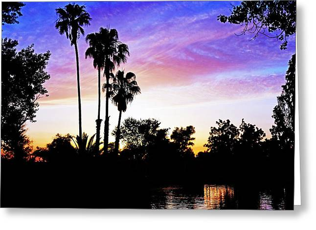 Stockton Greeting Cards - Sunset on the Delta Greeting Card by Pamela Patch