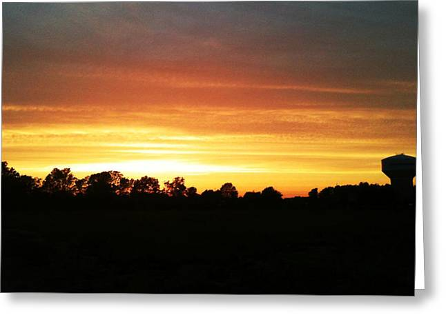 Rural Indiana Greeting Cards - Sunset on the Edge of Town Greeting Card by Dan McCafferty