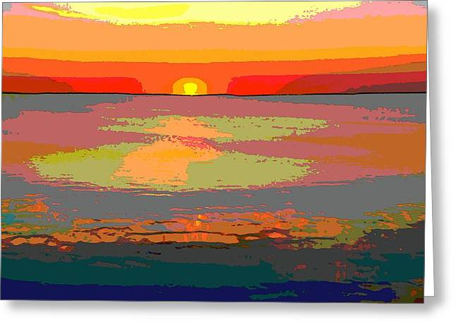 Sunset Posters Greeting Cards - Sunset On The Lake Greeting Card by Dan Sproul