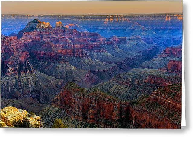 North Pyrography Greeting Cards - Sunset on the North Rim of the Grand Canyon HDR Greeting Card by Mark Greenawalt