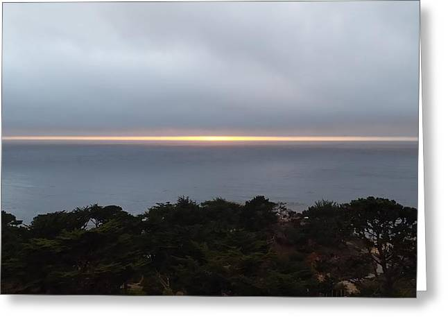 Sunset On The Pacific Greeting Card by Anthony Smith