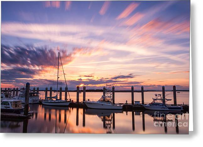 Northeast Florida Greeting Cards - Sunset on the River Fernandina Beach Florida Greeting Card by Dawna  Moore Photography