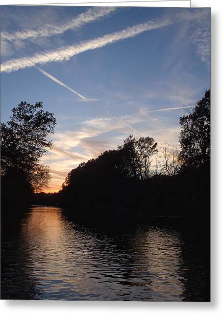 Heber Springs Greeting Cards - Sunset on the River Greeting Card by Phil Rispin